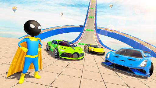 Stickman Superhero Car Stunt GT Racing screenshot 3