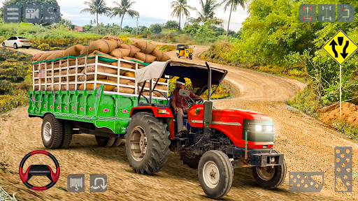 Tractor Trolley Cargo Game : Farming Simulation 20 screenshot 3