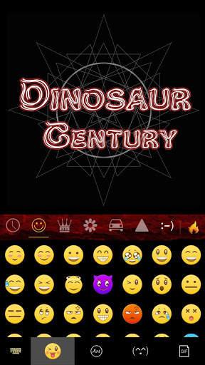 Dinosaur Kika Keyboard Theme screenshot 3