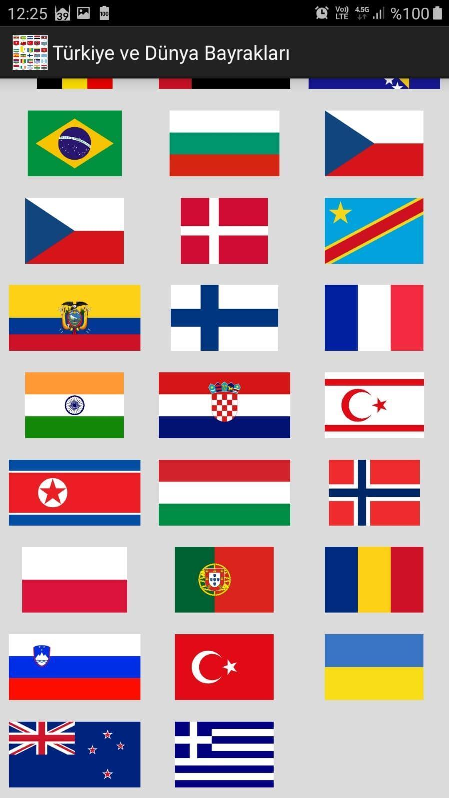 Türkiye ve Dünya Bayrakları screenshot 1