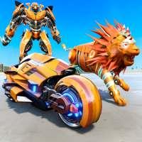 Lion Robot Transforming Games :  Bike Robot Games on 9Apps