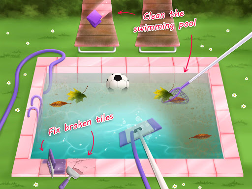 Sweet Baby Girl Cleanup 4 - House, Pool & Stable screenshot 16