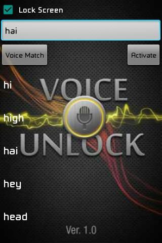 Voice Unlocker Lock Screen screenshot 8
