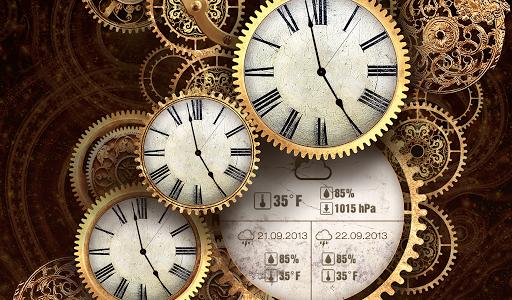 FREE Gold Clock Live Wallpaper 8 تصوير الشاشة