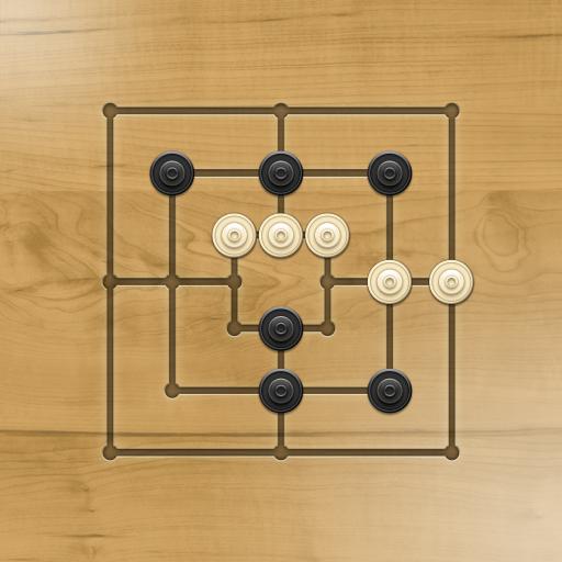Nine men's Morris - Mills - Free online board game أيقونة