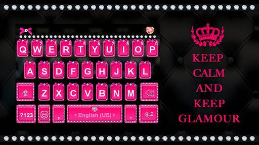 Pink Glamour girl Keyboard Theme screenshot 1