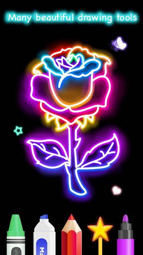 Learn To Draw Glow Flower скриншот 4
