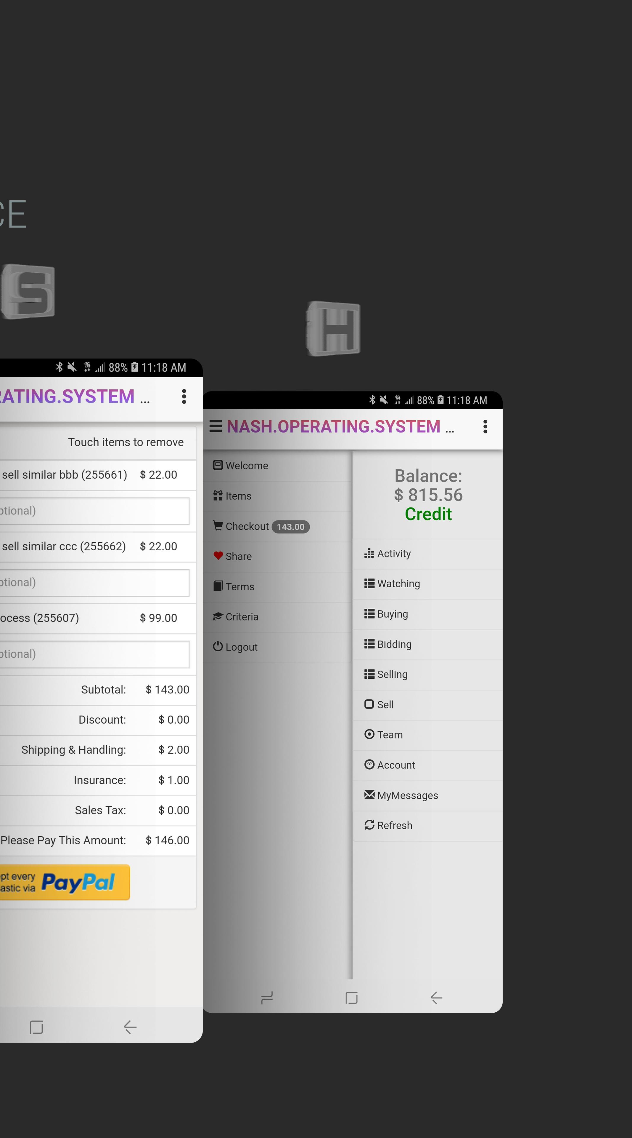 NASH OS APP (MOBILE DEMO) screenshot 3