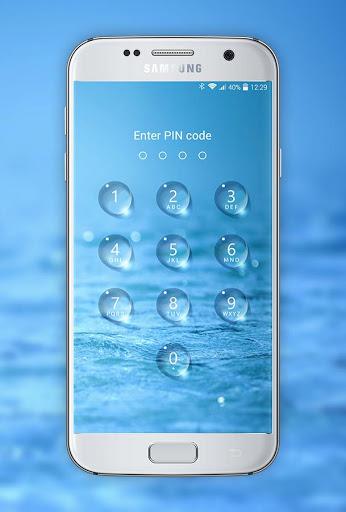 Lock screen - water droplets screenshot 1