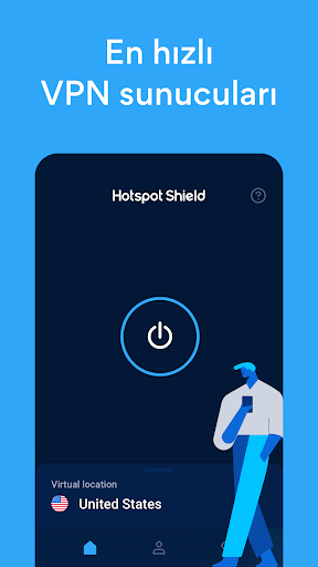 Hotspot Shield Ücretsiz VPN vekil & WiFi Güvenliği screenshot 2