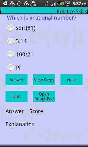 Master Algebra Lite screenshot 2