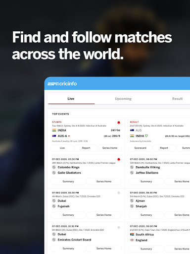 ESPNCricinfo - Live Cricket Scores, News & Videos screenshot 8