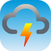 Weather forecast, thunderstorm, clouds, rain maps. icon