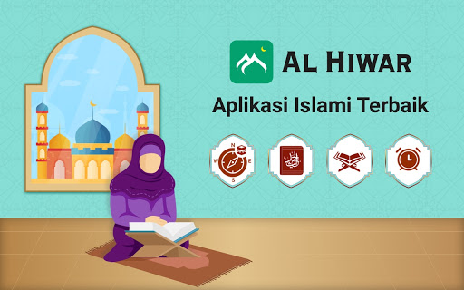 Al Hiwar- Waktu Salat Muslim,Adzan,Qur'an&Kiblat screenshot 9