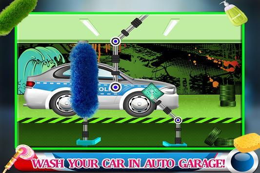 Messy Police Car Wash Salon screenshot 1