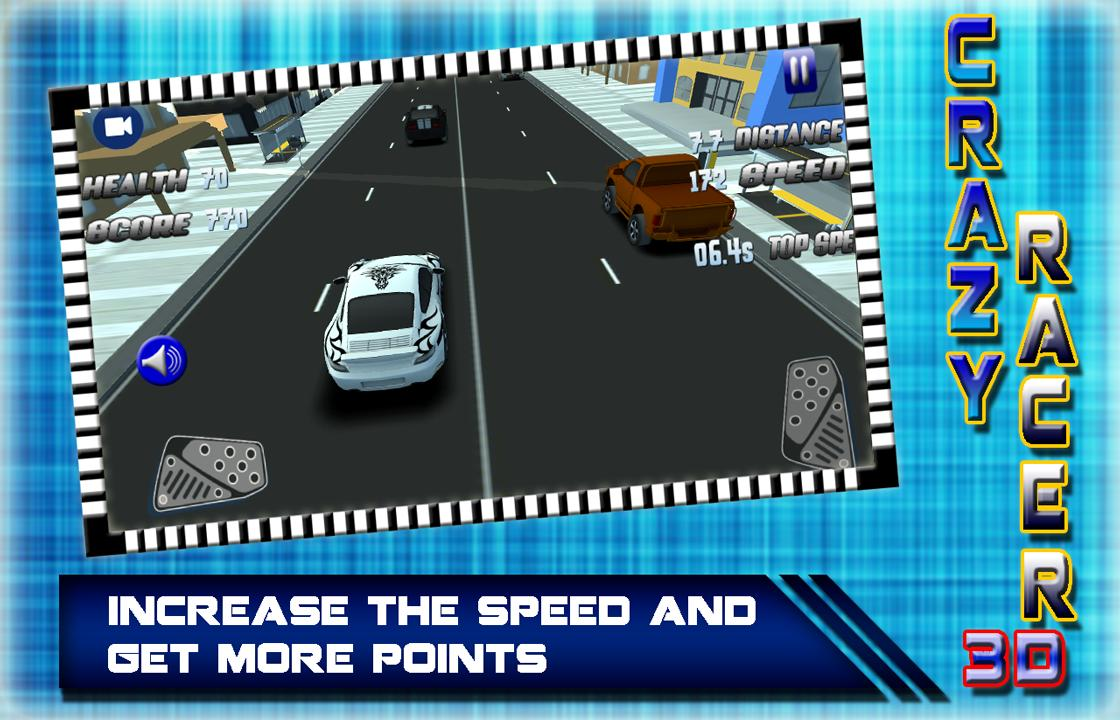 Crazy Car Racing 3D 2017: Rush Hero Driver screenshot 1