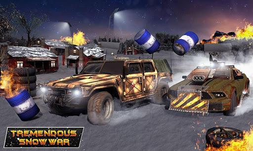Furious Car Shooting Game: Snow Car war Games 2021 screenshot 4
