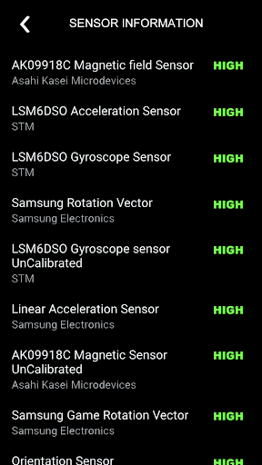 Digital Compas, Gps Status, Sensor information screenshot 6