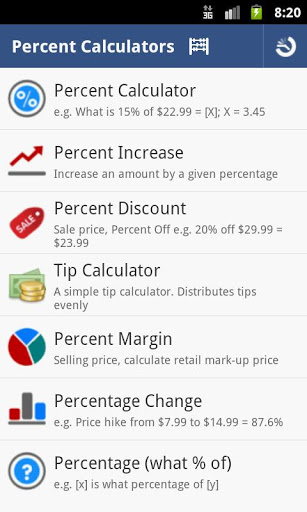 Percent Calculator 2 تصوير الشاشة