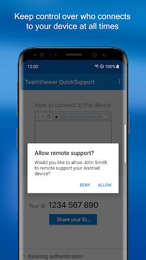 TeamViewer QuickSupport screenshot 3