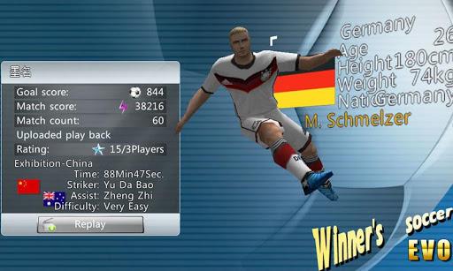 Winner Soccer Evolution 2 تصوير الشاشة