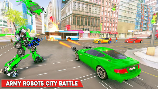 Army Bus Robot Transform Wars – Air jet robot game screenshot 3
