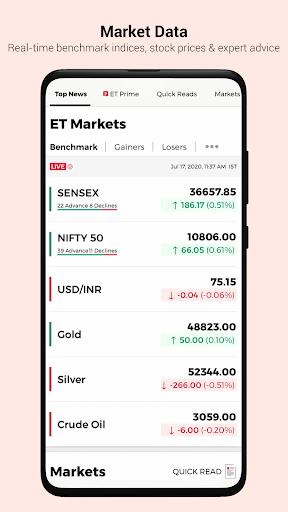 The Economic Times: Sensex, Market & Business News 6 تصوير الشاشة