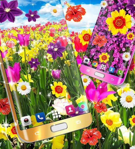 Flowers live wallpaper 3 تصوير الشاشة