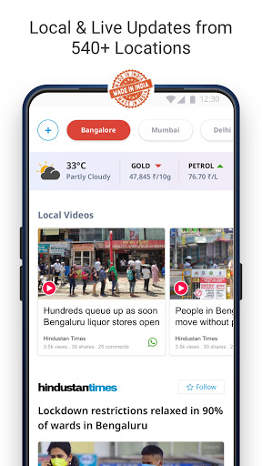 Dailyhunt - 100% Indian App for News & Videos screenshot 2