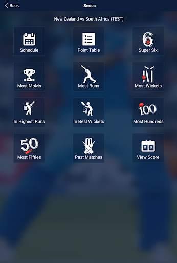 Cricket Live Score & Schedule 8 تصوير الشاشة