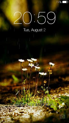 Galaxy rainy lockscreen screenshot 7