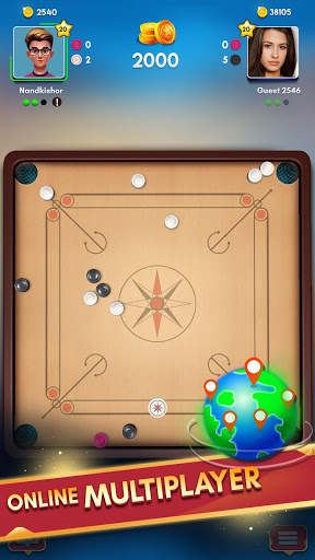 Carrom King™ - Best Online Carrom Board Pool Game 3 تصوير الشاشة