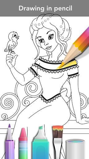 Princess coloring book screenshot 3