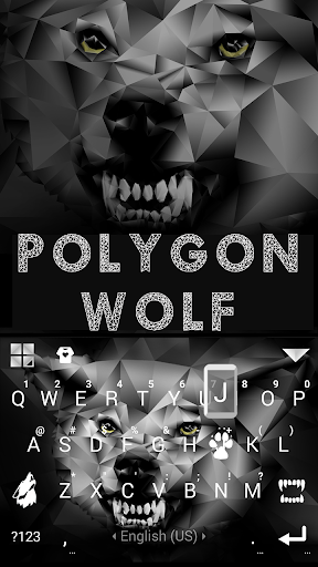 Polygon Wolf Keyboard Theme screenshot 3