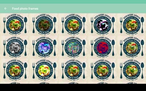 Food photo frames screenshot 9