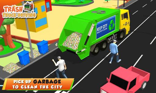 Urban Garbage Truck Driving - Waste Transporter screenshot 2