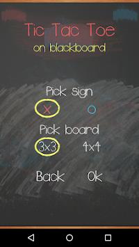 Tic Tac Toe on blackboard 2 تصوير الشاشة