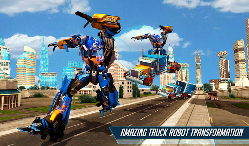 Grand Police Truck Robot War Transform Robot Games screenshot 9