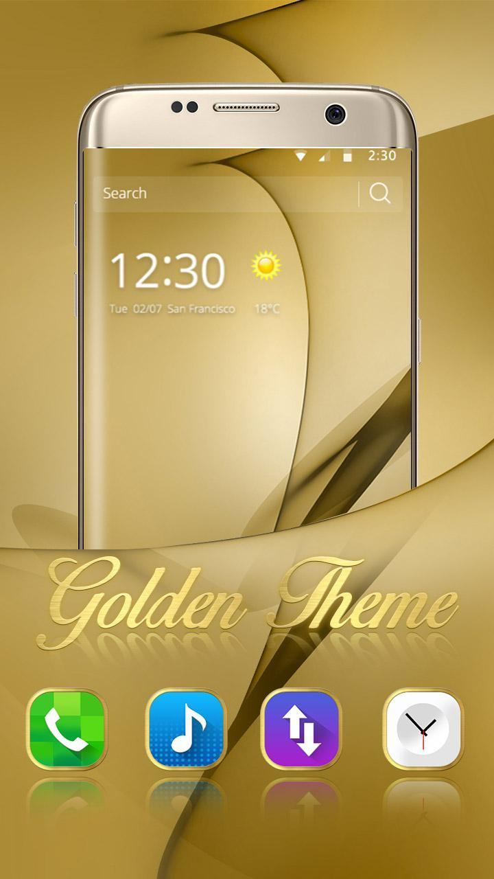 Gold Theme for Galaxy S8 Plus 4 تصوير الشاشة