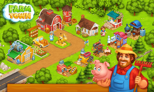 Farm Town: Happy village near small city and town screenshot 4