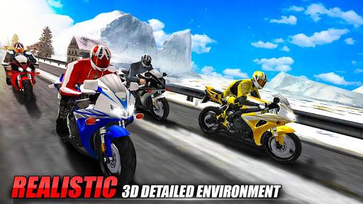 Bike Attack Race : Highway Tricky Stunt Rider screenshot 7