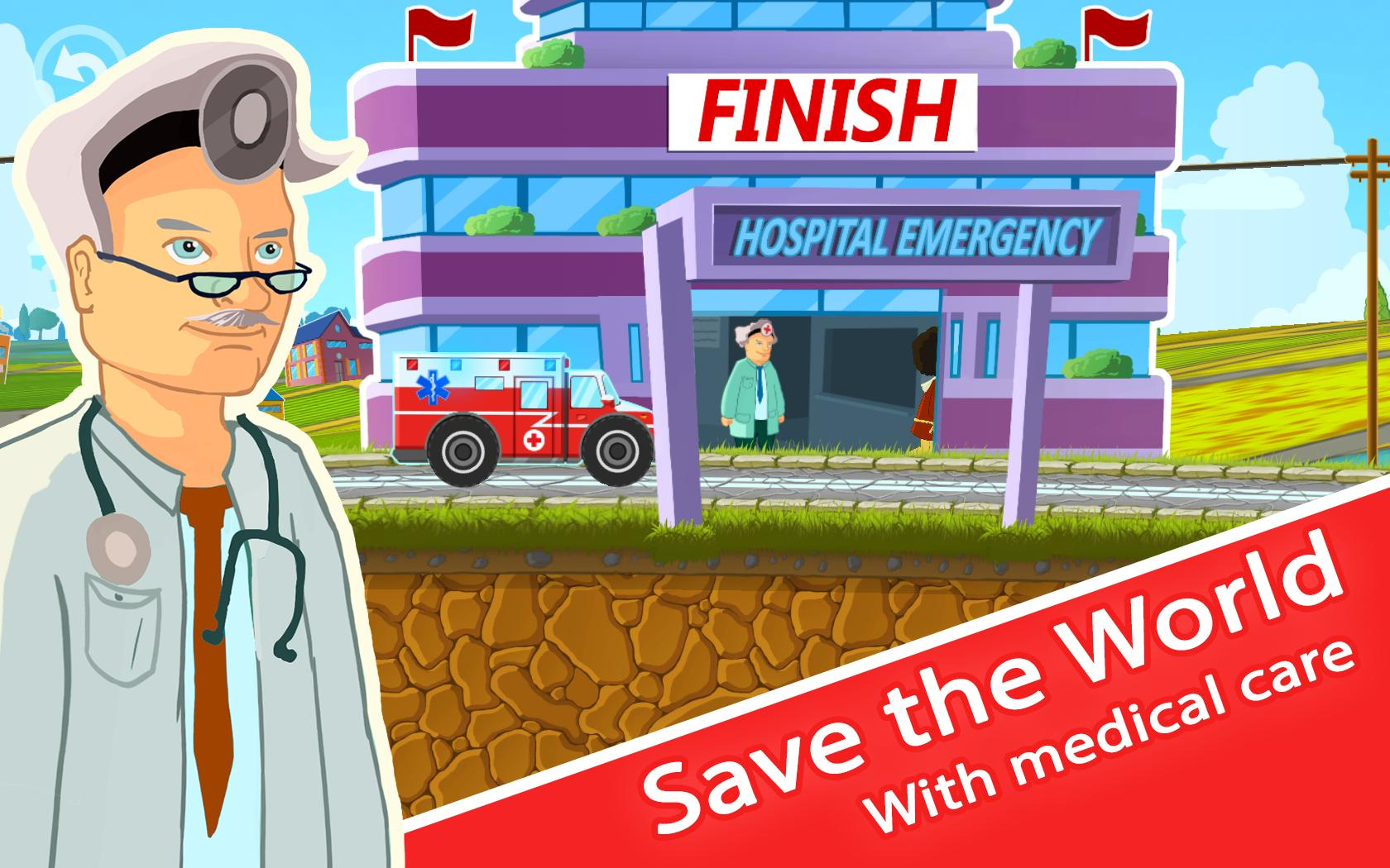 Ambulance Kid Driving Game स्क्रीनशॉट 4