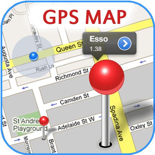 غس خريطة مجانية أيقونة