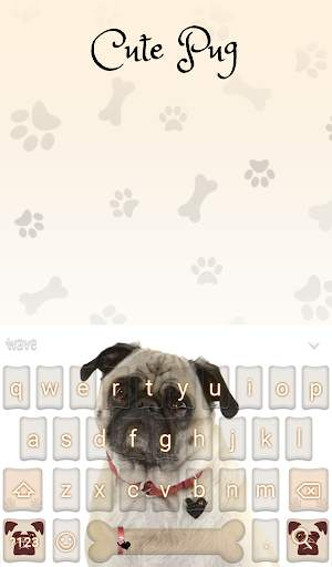 Cute Pug Animated Keyboard + Live Wallpaper screenshot 3