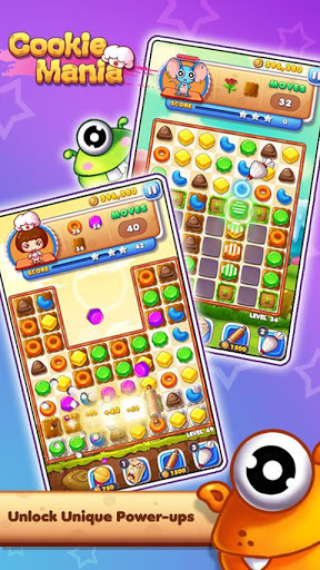 Cookie Mania - Match-3 Sweet Game 3 تصوير الشاشة
