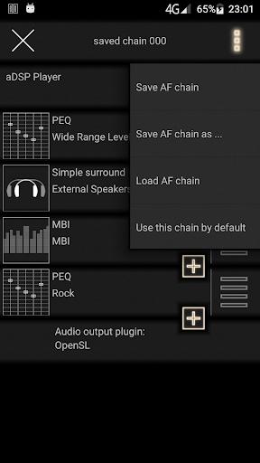 music player with parametric equalizer & surround screenshot 2