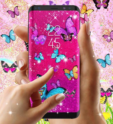 Glitter butterfly live wallpaper 5 تصوير الشاشة