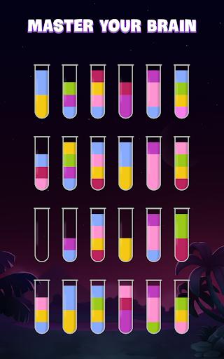 ソートウォーターパズル - 色分けゲーム screenshot 19