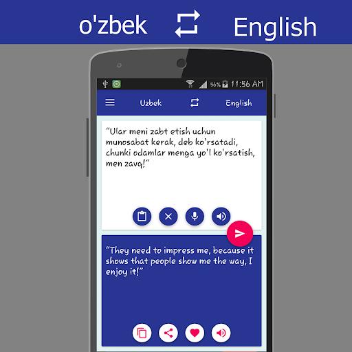 Uzbek English Translator screenshot 3