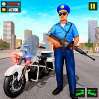 Police Moto Bike Chase Crime Shooting Games on 9Apps